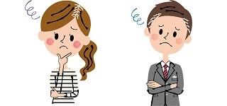 生え際の白髪に悩む女性と男性
