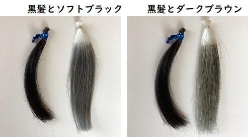 ダイソー 黒髪との比較