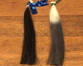 リライズで染めた髪と黒髪比較