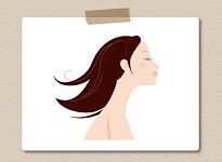 ダークブラウン髪の女性