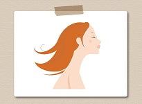 ライトブラウン髪の女性