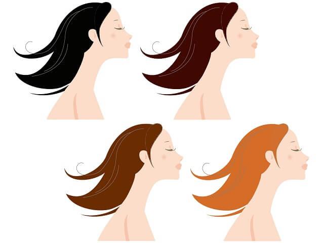 髪色の異なる女性達