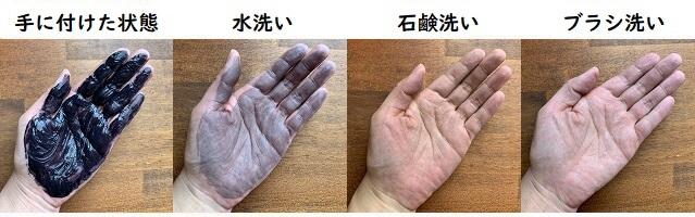 スカルプDの手の汚れ検証