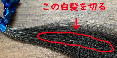 枝毛・白髪切りの使い方1