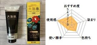 大島椿ヘアカラートリートメントと評価レーダーチャート