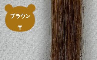 マイナチュレのブラウン色で染めた髪